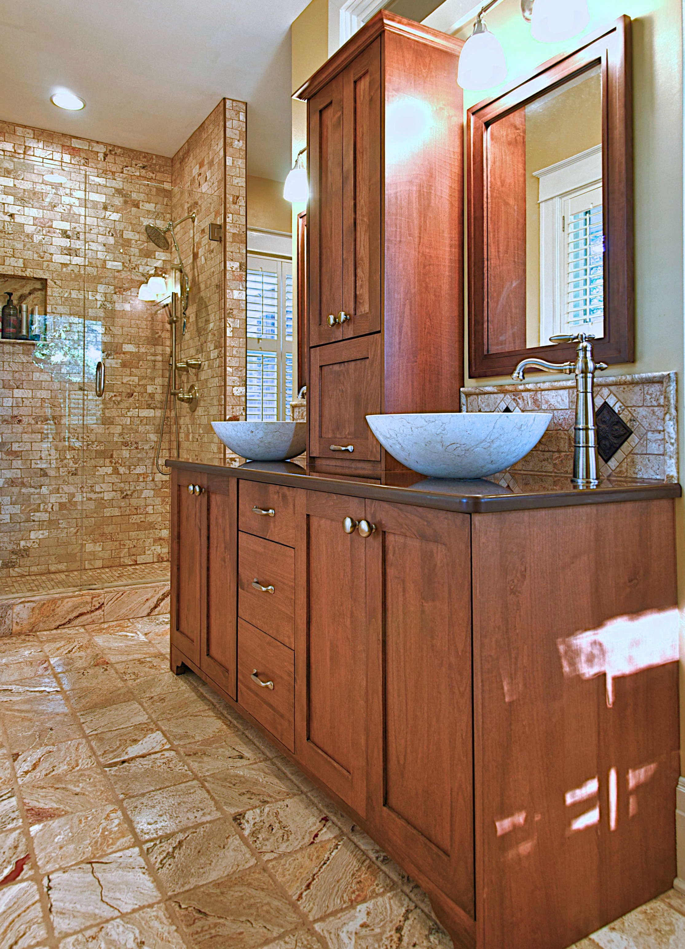 Premium grade, wooden powder room cabinetry